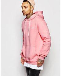Illusive London - Oversized Hoodie - Pink - Lyst