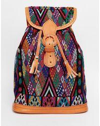 Hiptipico - Handmade Geometric Tapestry Backpack - Geometric Tapestry - Lyst