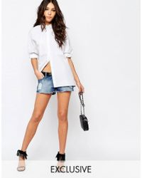 Northmore Denim - Shorts With Rips And Distressing - Blue - Lyst
