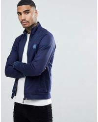 Pretty Green - Milner Track Top In Navy - Lyst