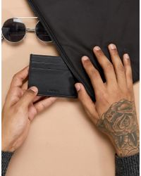 Esprit - Cardholder In Black Leather - Lyst