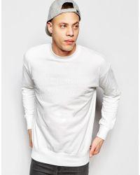 Izzue - Sweatshirt With Slogan - White - Lyst