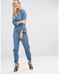 G-Star RAW - Arc Denim Boyfriend Boilersuit - Lyst