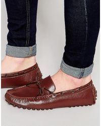 Bellfield | Driving Loafers In Brown Leather | Lyst