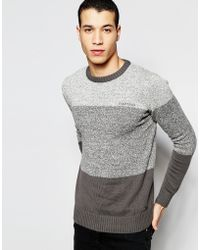 Firetrap - Stripe Knitted Sweater - Lyst