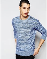 Firetrap - Stripe Crew Neck Knitted Jumper - Lyst