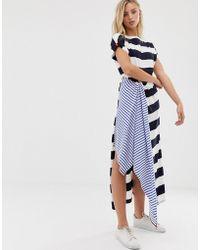 Sass & Bide Gestreiftes Kleid mit Print-Mix