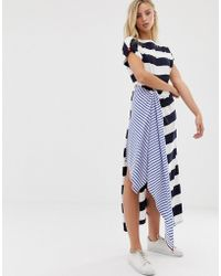 Sass & Bide - Mixed Print Stripe Dress - Lyst