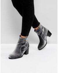 Dune - Pipaa Velvet Boots - Lyst