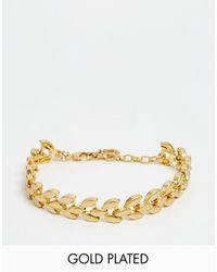 Pilgrim - Gold Plated Vintage Style Bracelet - Lyst