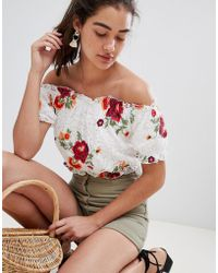 New Look - Embroidered Boho Top - Lyst
