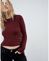 Girls On Film - Sweater With Tie Sides - Lyst