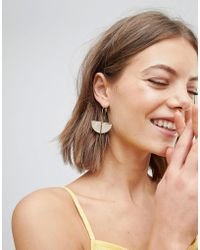 ALDO - Gold Disc And Hoop Earrings With Drop - Lyst