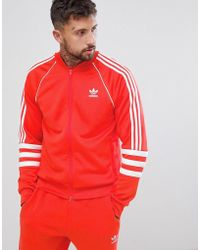 adidas Originals - Chaqueta de chndal roja Authentic Superstar DJ2858 de - Lyst