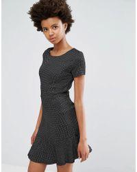 Dex - Drop Hem Jacquard Dress - Lyst