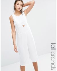 Noisy May Tall - Nikita Culotte Jumpsuit - Bright White - Lyst
