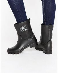 Calvin Klein - Jeans Philippa Ankle Wellington Boots - Lyst