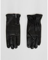 SELECTED Gloves In Leather - Black