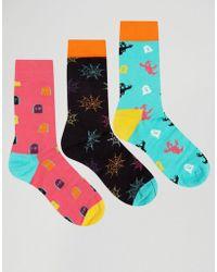 Happy Socks - Halloween Gift 3 Pack Socks - Multi - Lyst