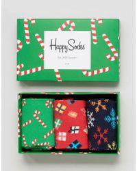 Happy Socks - Christmas Gift 3 Pack Socks - Multi - Lyst