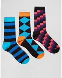 Happy Socks - Hs By 3 Pack - Multi - Lyst