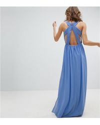 TFNC London - Pleated Maxi Bridesmaid Dress With Back Detail - Lyst