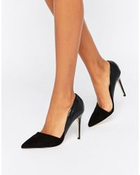 Lipsy - Asymetric Point Court Shoes - Black - Lyst