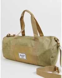 Herschel Supply Co. - Sutton - Borsone medio 28 lt color sabbia con tratteggio incrociato - Lyst