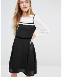 I Love Friday - Dress With Peter Pan Collar - Lyst