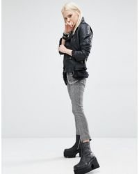 Tripp Nyc - Check Skinny Trousers - Lyst