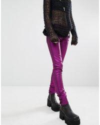 Tripp Nyc - Metallic Skinny Jeans - Purple - Lyst