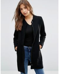 Sugarhill - Kim Zip Detail Coat - Lyst