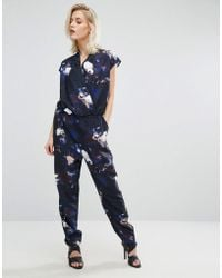 SELECTED - Femme Printed Sleeveless Jumpsuit - Lyst