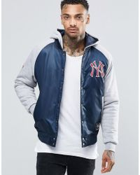 Majestic Filatures - Yankees Satin Jacket With Hood - Lyst