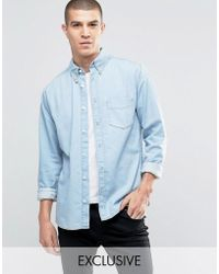 Brooklyn Supply Co. - Heavy Washed Shirt With Pocket - Lyst