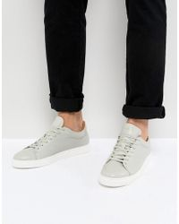 Premium Sneakers With Suede Heel - White Selected h51Gpg