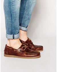 ASOS - Boat Shoes In Leather - Lyst