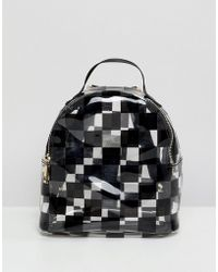 ASOS - Design Mini Clear Plastic Backpack In Checkerboard Print - Lyst