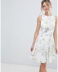Coast - Mezel Floral Print Skater Dress - Lyst