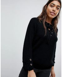 Girl In Mind - Lace Up Jumper - Lyst