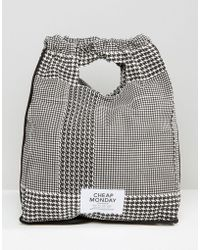 Cheap Monday - Dogtooth Drawstring Backpack - Lyst