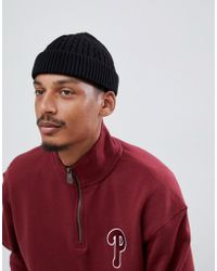 ASOS - Mini Fisherman Beanie In Black Cable Knit - Lyst