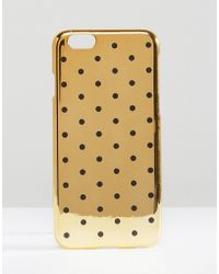 ASOS - Iphone 6 And 6s Polka Dot Metallic Case - Gold - Lyst