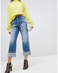 Miss Sixty - Highwaisted Straight Leg Jean With Turn Up - Lyst