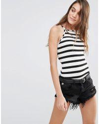 Pull&Bear - Monochrome Stripe Body - Lyst