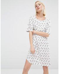 ADPT - Graphic Print Shift Dress - Multi - Lyst