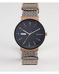 Skagen - Skw6453 Ancher Watch With Canvas Strap - Lyst