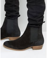 House Of Hounds - Keats Suede Chelsea Boots - Lyst