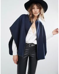 Suncoo - Edna Cape Cross Stitch Coat - Lyst
