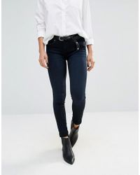 Blank - Mid Rise Skinny Jeans - 90210 Blue - Lyst